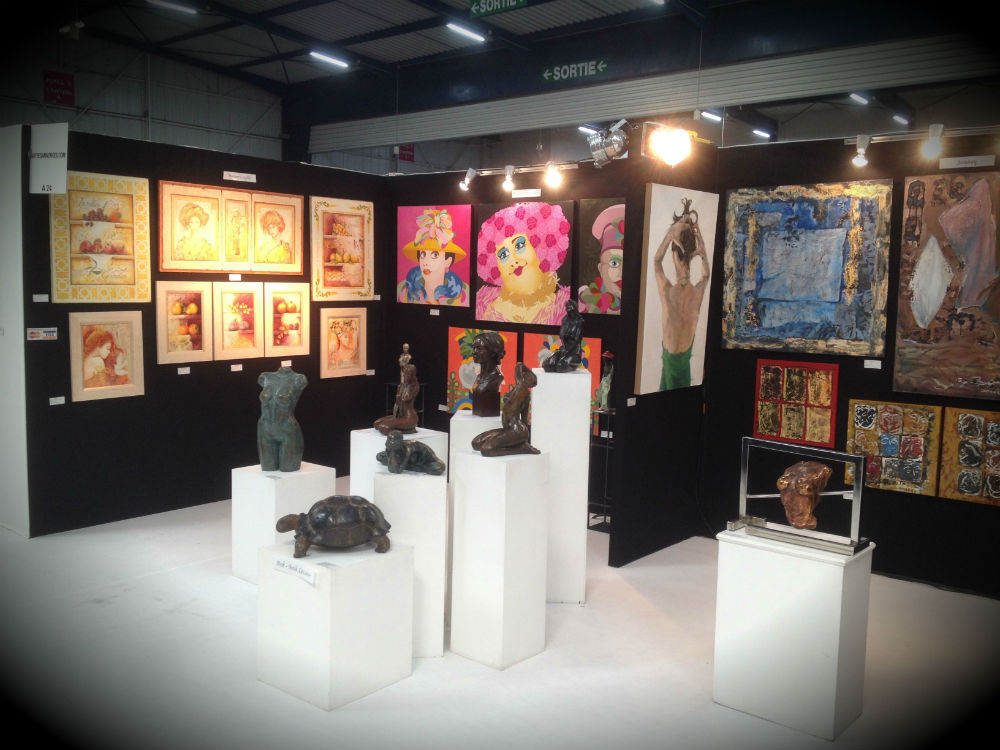 Exemples de stands art des annonces galerie art fresque - Salon art contemporain ...