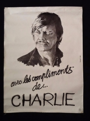 """ au1001choses "" Ancienne affiche Charles Bronson"