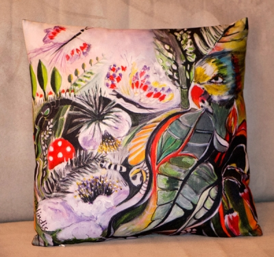 Coussin perroquet - Relindis