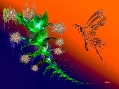 Fleur et Oiseau - Clément PERRENX