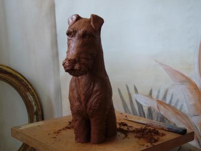 """Le chien """"Airdale Terrier""""-Fabienne Thibault Boorsch."""
