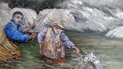 Pêcheur a la mouche - Manuel Martin