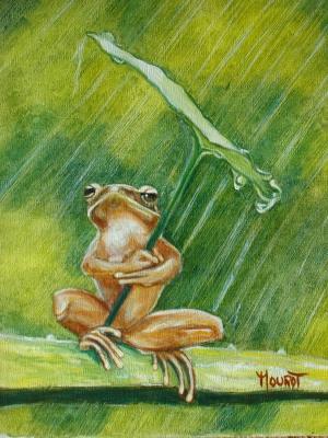 Sous la pluie - Marie-Jeanne Mourot