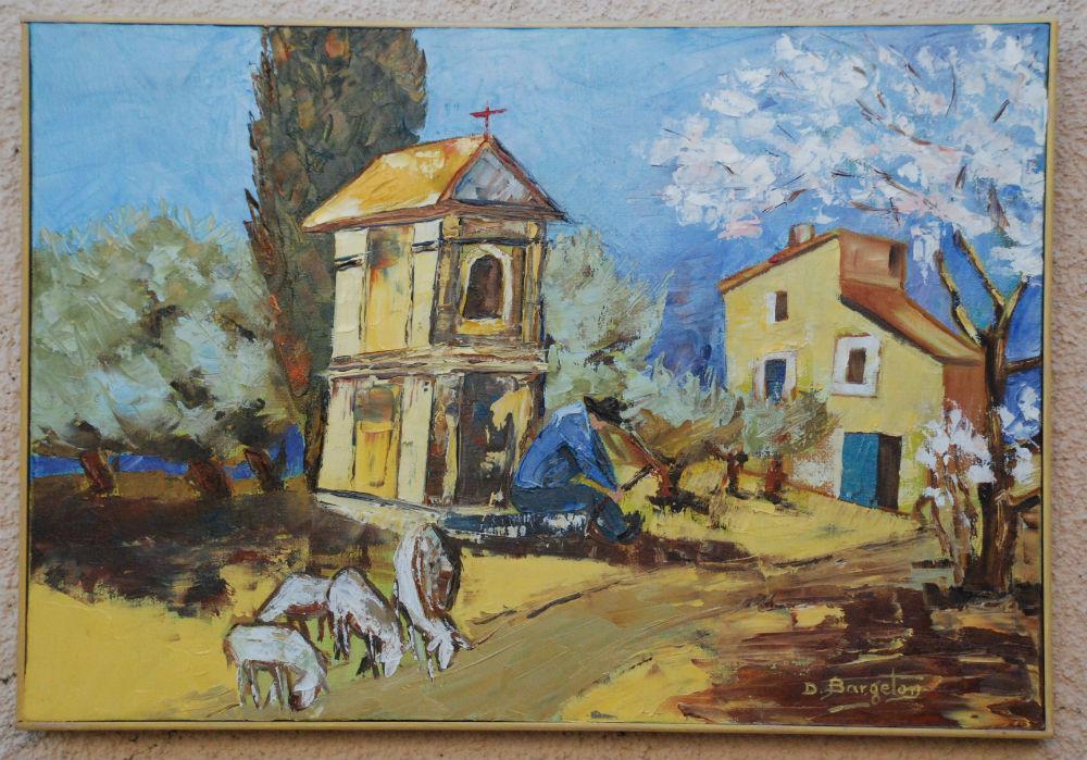 Daniel Bargeton - L'oratoire en Provence - 56X39 - Huile