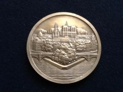 """"""" au1001choses """" Monnaie de Paris en Bronze Ile de la Cité Notre Dame"""