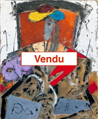 Femme au masque mauve - Ventabren