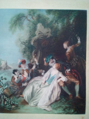 """Gravure """"Conversations Galantes """" d'après tableau Pater"""