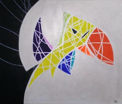 L'envol du Toucan - Marie-Martine - Toile de 45x55 cm