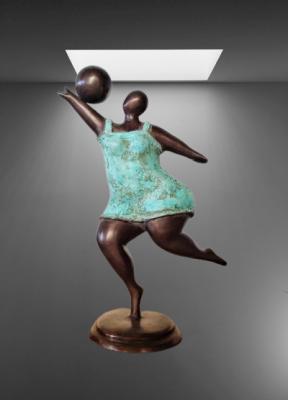 La femme au ballon - Pierre Gimenez