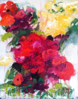 Les fleurs dansaient dans la lumière  - Michelle Durix