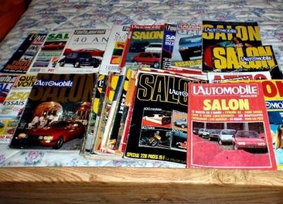 Lot de revues spécial salons de l'automobile