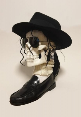 Sculpture de crâne MICHAEL JACKSON - Art Contemporaint