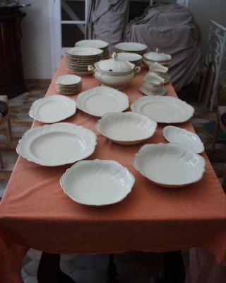 Service de table 66 pièces ancien Rosenthal Viktoria Kronach Ivoire /